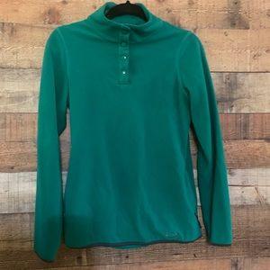 Oakley green ladies green fleece pullover, size sm